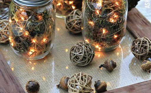 Fall Table Decor: Mason Jar Firefly Lanterns | Ashley Hackshaw / Lil