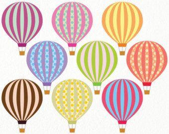 Free Printable Balloons Balloon Clipart Hot Air Balloon Craft Hot Air Balloon Decorations