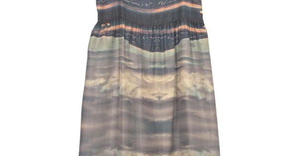 Caron Callahan Marguerite Dress Seascape. This is lovely.
