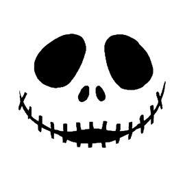 Jack Skellington Face Halloween Stencils Jack Skellington