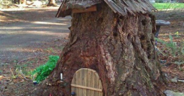 Fairy house make it from arotten tree trunk or take a for Tree trunk uses