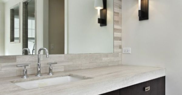 Clean Bold Vanity Tile Behind Mirror Master Bath Pinterest Vanities Bald Hairstyles And