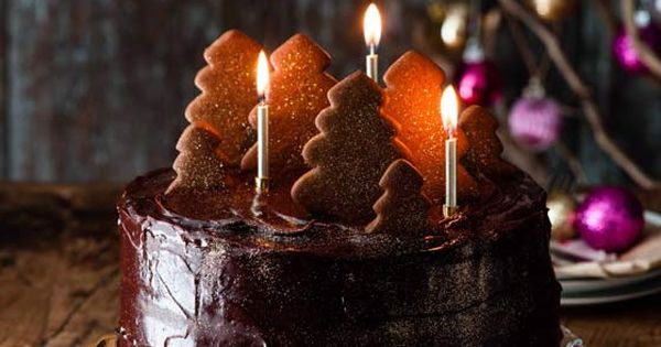 Double fudgey chocolate cake with a gingerbread forest - Sainsbury s Magazine Cakes ...