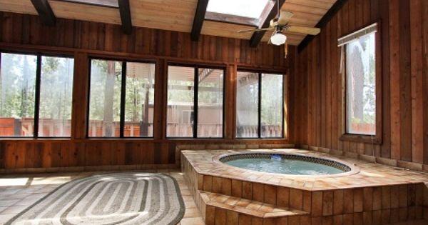 Big Bear Cabins Photos Indoor Hot Tub Big Bear Cabin Hot Tub