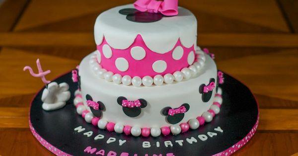 pink disney cake.