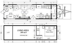 Plans To Build Your Own Converting Bed Desk Tiny House Floor Plans Tiny House Plans Tiny House Trailer