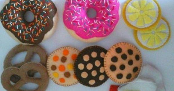 Ciastka Jedzenie Z Filcu Dla Dzieci 6895903299 Oficjalne Archiwum Allegro Sugar Cookie Diy Food