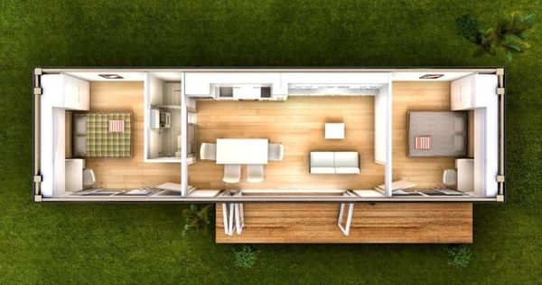 2 bedroom 40 foot container home nice but i would shift for Goedkope prefab woningen