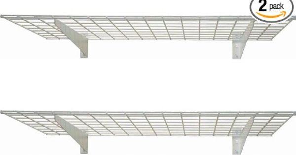 Hyloft 967 45 By 15 Inch Wall Shelf 2 Pack Amazon Com Wall Mounted Wire Shelving Garage Wall Storage Wall Mounted Shelves