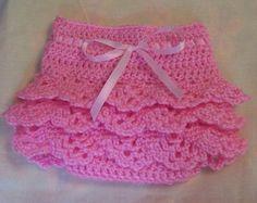 Baby Girls Crochet Shells Diaper Cover