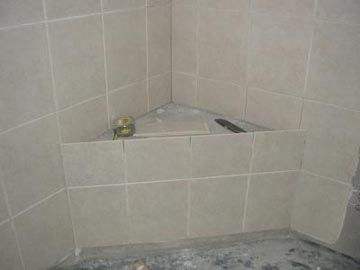 Building Shower Bench With Images Shower Seat Concrete Shower