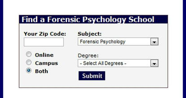 Forensic Psychology Degree Directory Forensic Psychology Forensics Psychology