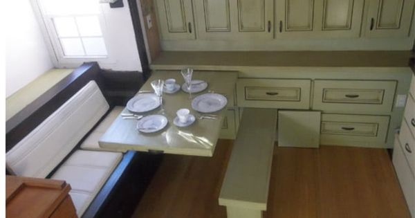 Pull Out Table And Bench Cabinets Are Also Pull Out And
