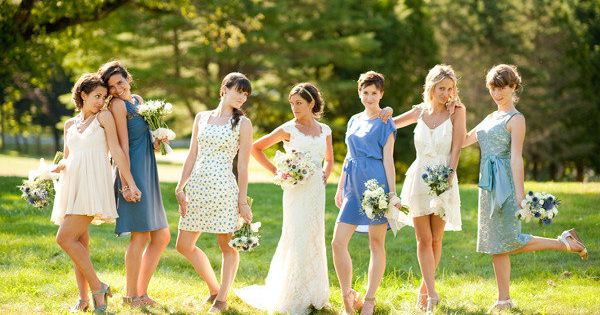 a fun mix of bridesmaids Photography by jennymoloney.com... I just like the