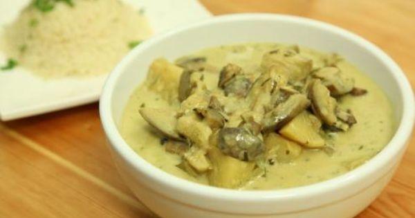 طريقة عمل وصفة يخنة البطاطا والفطر بالكاري Recipes Cooking Recipes Cooking