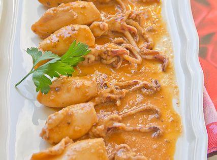 Chipirones en salsa americana cocina espa ola for Cocinar calamares pequenos