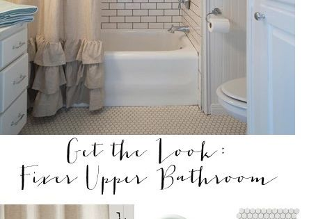 Get The Look Fixer Upper Bathroom House Of Hargrove Get