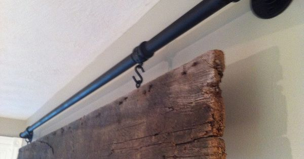 galvanized pipe and old barn wood -- could paint your last name