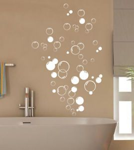 Details About 90x Bubbles Stickers Bathroom Wall Shower Door Diy