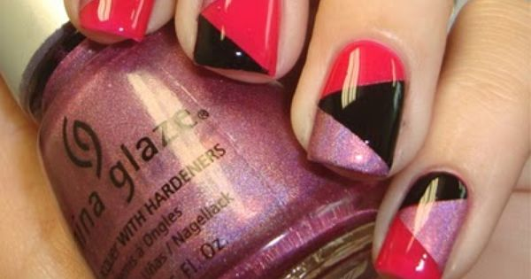26 Amazing Trendy Nail Designs. China glaze. Pink nails. Nail art. Nail