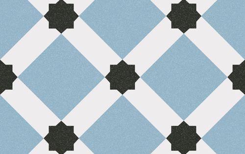 Carrelage style ciment blanc bleu g om trique 20x20 cm for Carrelage 20x20 blanc