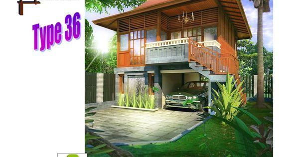rumah kayu modern mix type 36 panggung indonesia wooden