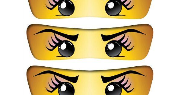 photograph relating to Ninjago Eyes Printable known as Female Ninjago Eyes Printable Billy Knight
