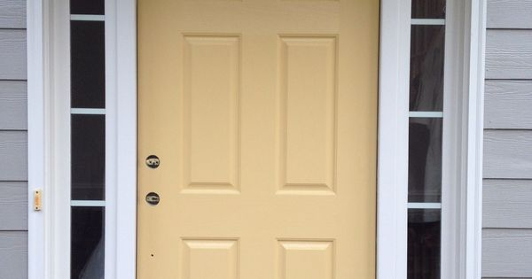 Front Door Re Do With Benjamin Moore S Marblehead Gold