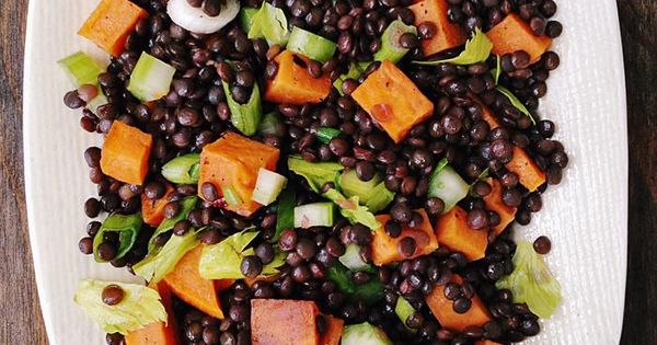 Black lentils, Roasted sweet potatoes and Lentils on Pinterest