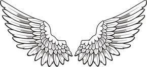 Wand Zeichnungen Angel Wings Clip Art Wings Drawing Wing