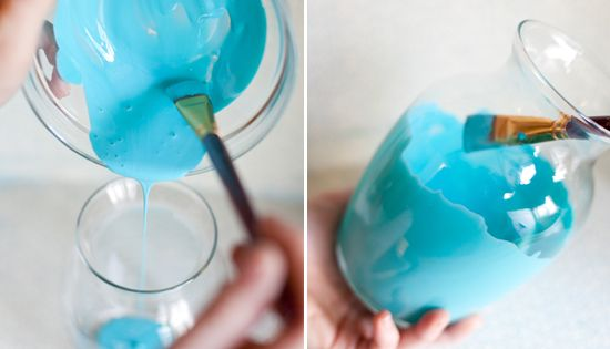 paint vases inside - turn dollar store finds into something special ~