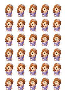 Wondrous Pop Cake Princess Sofia Ulang Tahun Stiker Personalised Birthday Cards Cominlily Jamesorg
