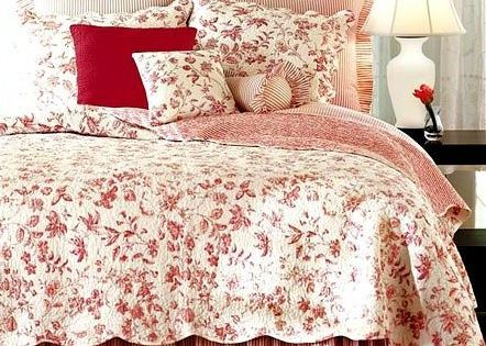 Red And White Bedspreads And Quilts Brighton Red Toile