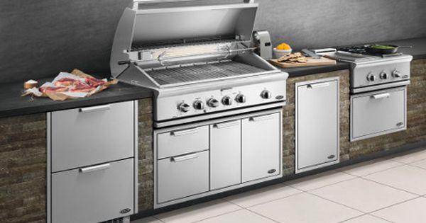 Best Outdoor Kitchen Kits Storage Packages Bbqguys Outdoor Kitchen Kits Outdoor Kitchen Grill Outdoor Kitchen