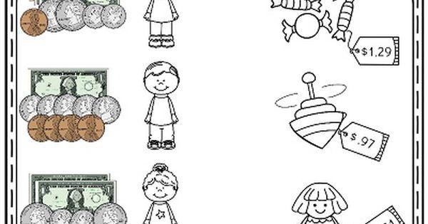 money worksheets for 2nd grade money worksheets worksheets and math. Black Bedroom Furniture Sets. Home Design Ideas