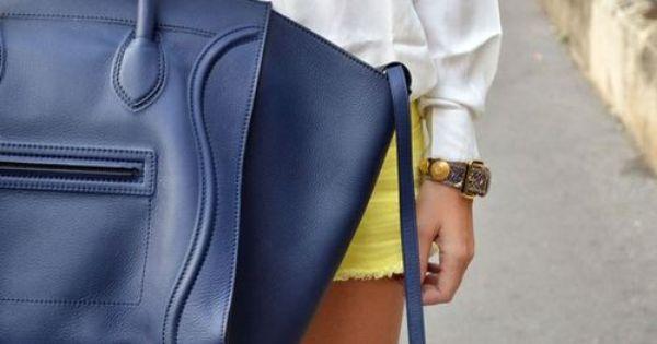 buy original celine bags online - Celine Khaki Textile Navy Leather Phantom Luggage Medium Bag Super