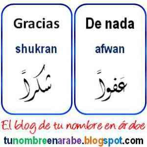 Gracias En Arabe Y Otras Palabras Básicas Texto árabe Tatuajes Letras Arabes Letras Arabes