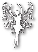 Fairy Metal Die Cut Dancing Faerie Cutting Dies Poppystamps 1768 Ballerina Wings