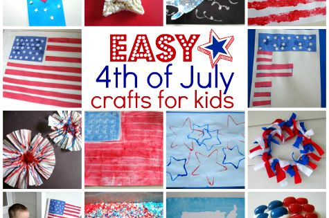 Easy 4th Of July Crafts For Kids - No Time For Flash