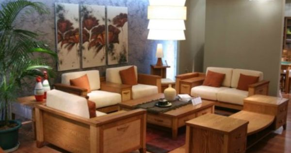 Wooden Sofa Set Designs For Small Living Room With Hanging Light Fixtures Furniture