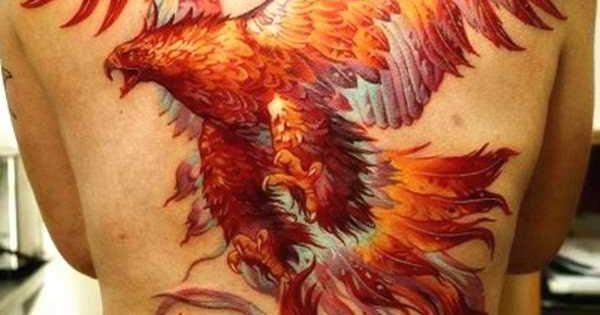 magische ph nix tattoos phoenix r cken t towierung und tattoos. Black Bedroom Furniture Sets. Home Design Ideas