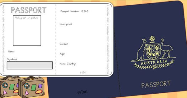Australian passport template passport airline for Make your own passport template