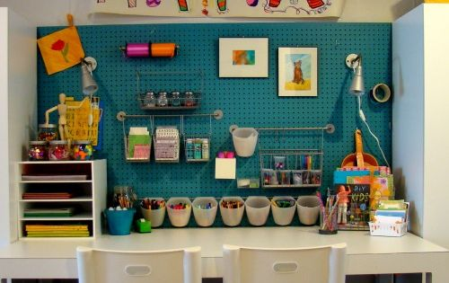 Craft Room Ideas I stumbled across this link to a cute craft