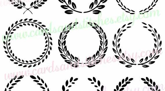 Leaf Circle Frames Svg Monogram Frames Svg Digital