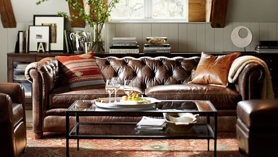 Chesterfield Leather Sofa | Pottery Barn March 22, 2017 At 04:48PM