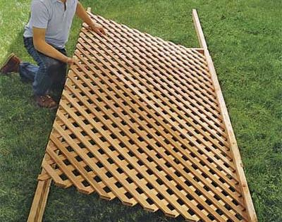 trellis fence for mobile home