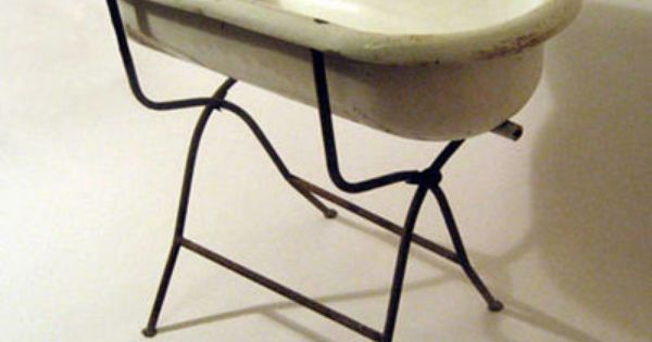 antique porcelain baby bath w iron stand a walk down memory lane trinidad and tobago. Black Bedroom Furniture Sets. Home Design Ideas