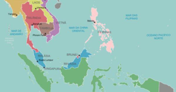 Map Of Southeast Asia Pt Png Mapa Da Asia Sudeste Da Asia