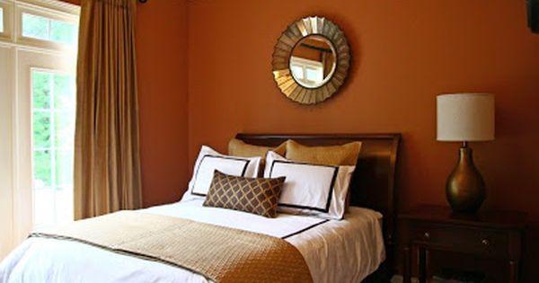 ديكورات لجميع درجات اللون البرتقالي اورانج في دهانات الحوائط والجدران تناسب غرف النوم Orange Bedroom Walls Bedroom Wall Colors Bedroom Orange