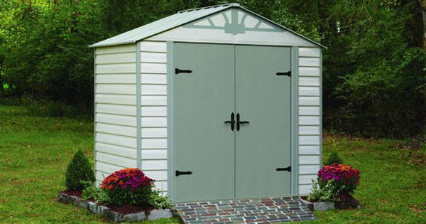 Admiral Series 8 X5 Vinyl Coated Hot Dipped Galvanized Steel Storage Building At Menards Steel Storage Sheds Steel Sheds Shed